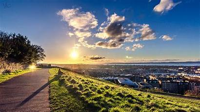 Edinburgh Scotland Panorama Wallpapers Sky Panoramic Sunset