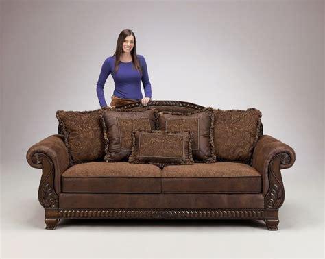 truffle traditional sofa set  world couch wood trim