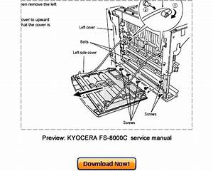 Fs C8500dn Full Service Manual Parts Service Diagrams User Manuals Bulletins Etc