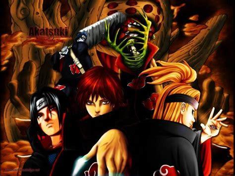 Akatsuki Criminal Organization Naruto Black Wallpaper