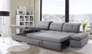 Alpine Sectional Sleeper Sofa, Left Arm Chaise Facing