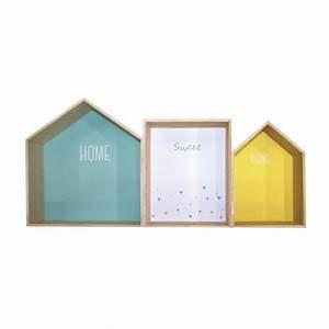 Etagere Murale Hexagonale : etagere murale forme maison ~ Teatrodelosmanantiales.com Idées de Décoration