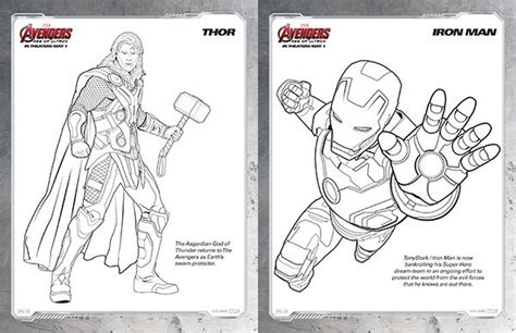 free kids printables marvel s the avengers age of ultron