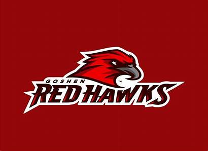 Redhawks Goshen Behance Logos Sports Team Mascot