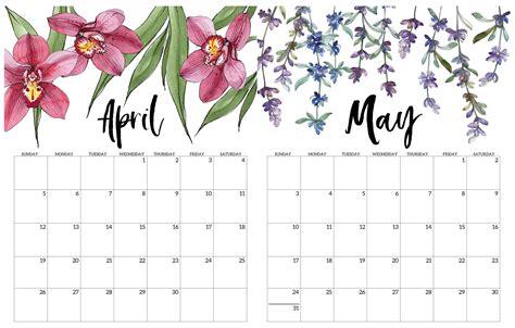 editable april   calendar printable sheets set