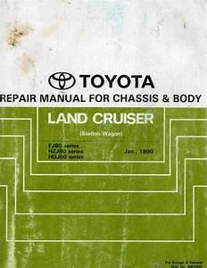 Toyota Land Cruiser  Station Wagon  1990 Repair Manual For