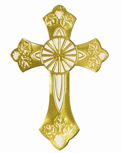 Cross Gold Silhouette Clipart Foil Caufields Baptism