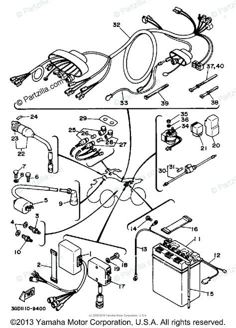 yamaha atv 1989 oem parts diagram for electrical 1 partzilla