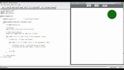 Java Circle Code Moving Write