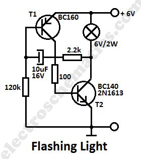 For Automobile 12 Volt Light Wiring Diagram by Light Circuit With Transistors
