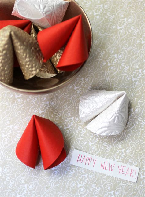 chinese  year diy paper fortune cookies evite