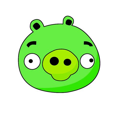 Angry Bid How To Draw Angry Birds Pig Draw Central