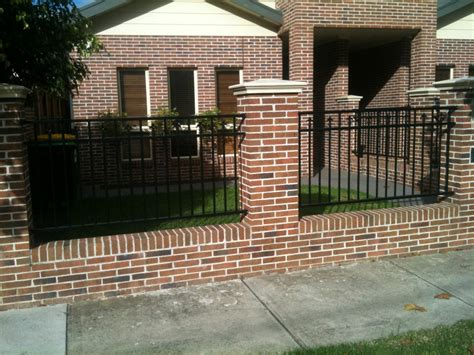 modern brick fence designs block walls jmarvinhandyman