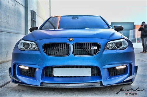 matte blue prior design bmw m5 wide