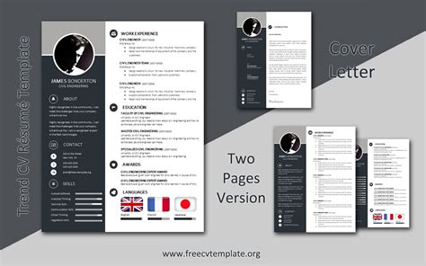 Using this free cv template for word, you can engage recruiters with your work history across four pages. Trend CV Template 3-in-1 Package • Get A Free CV • Templates