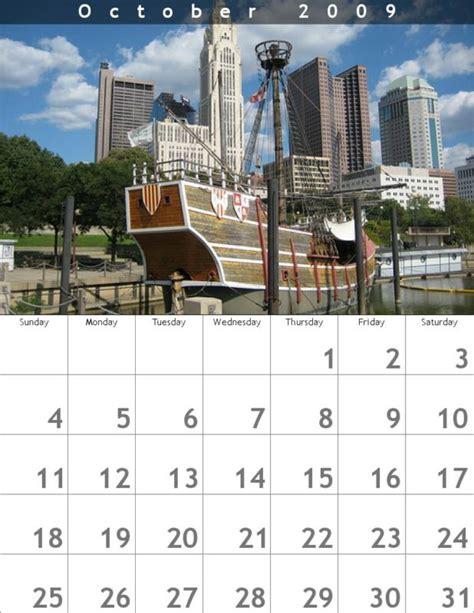 columbus calendar october