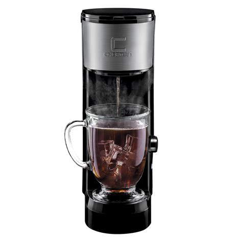 Single serve electronic coffee maker makes this work so easy and that's a big reason these machines are more famous. Chefman InstaBrew Single Serve Coffee Maker Chefman.com