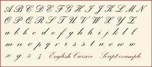 cursive calligraphy alphabet english cursive letters With basic cursive letters