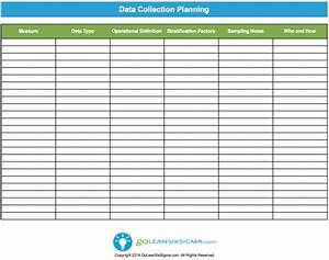 Data Management Policy Template Data Collection Plan Template Example