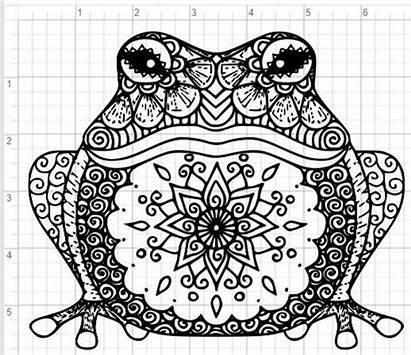 Mandala Frog Svg Dxf Cut Eps Pdf