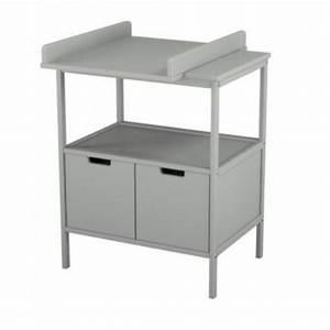 Rangement Table à Langer : table langer avec compartiment de rangement gris pas cher chez natal discount ~ Teatrodelosmanantiales.com Idées de Décoration