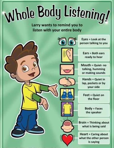 to improve listening skills in preschoolers 3 276 | whole body listening 22