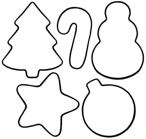 printable christmas ornaments cutouts ornament coloring pages getcoloringpages