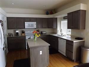 diy kitchen cabinet reno we used rustoleum cabinet With kitchen colors with white cabinets with motorbike sticker kits