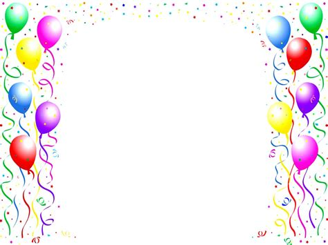 birthday card template balloons clipart boarder free clipart on dumielauxepices net