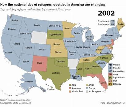 Refugees Refugee Resettlement America 2002 Nationalities State