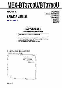 Sony Mex-bt3700u  Mex-bt3750u Service Manual