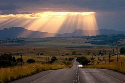 South Africa Road Countries Landscape Bruins Rays