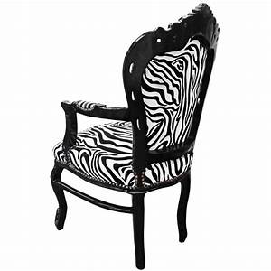 Fauteuil De Style : fauteuil de style baroque rococo zebre et bois noir ~ Teatrodelosmanantiales.com Idées de Décoration
