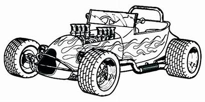 Coloring Pages Cars Rod Police Wheels Race