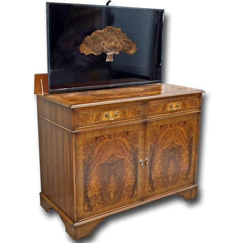 Tv Sideboard by Burr Walnut Regency Sideboard With Popup Tv