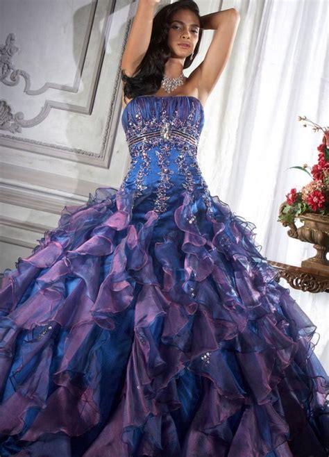 blue and purple wedding dress purple and blue wedding dress pixshark com images