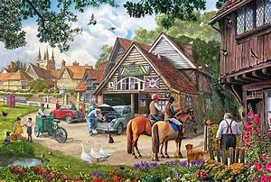 The Old Garage Painting by Steve Crisp
