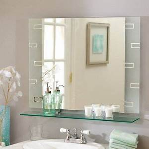 how to use benefits of round shape for different kinds of With the benefit of white bathroom mirror