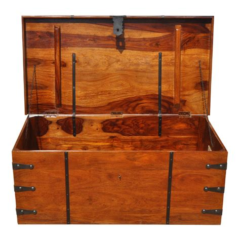 These storage chest coffee table are offered in various shapes and sizes ranging from trendy to classic ones. Large Solid Wood with Metal Accents Storage Trunk Coffee ...