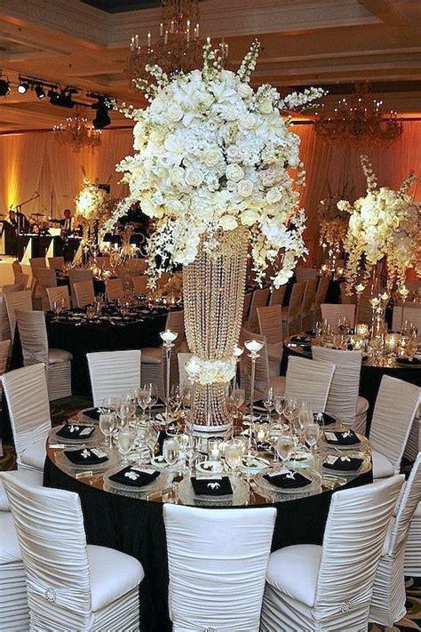 black white wedding tablescape black white