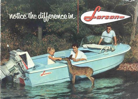 Larson Runabout Boats by 1960 Larson Boat All American Runabout Vintage