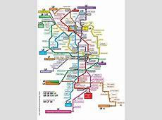 Metroplan Barcelona UBahnKarte von Barcelona, Spanien