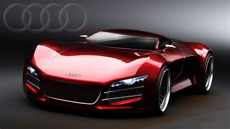 Free Hd Sport Audi Red Car Wallpapers Download