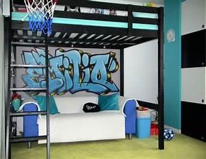 Graffiti Für Kinderzimmer : 3 hochbett wandmotiv graffiti raumgrips ideen und ausf hrungen f r lebensr ume mit weitblick ~ Sanjose-hotels-ca.com Haus und Dekorationen