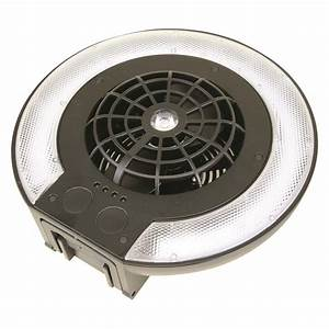 Clam U00ae Deluxe Rechargeable Fan  Light Combo