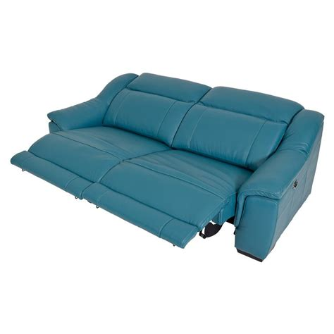 blue leather reclining sofa blue leather chair appealing turquoise leather sofa with