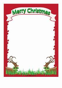 Free Cover Letter For Resume Christmas Reindeer Page Border Template Printable Pdf Download