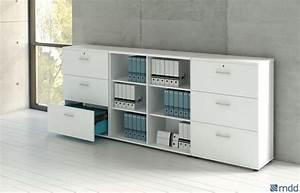 Meuble Bureau Rangement : meuble bas rangement bureau bureau bois noir lepolyglotte ~ Teatrodelosmanantiales.com Idées de Décoration