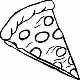 Pizza Drawing Coloring Draw Getdrawings sketch template