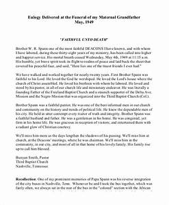 13 eulogy examples pdf doc psd free premium templates With eulogy template for a friend